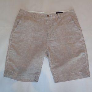 Cremieux WILLIAM Tan Linen Cotton Shorts